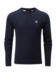Henri Lloyd Men's Kramer Regular Crew Neck Knit Jumper French Navy