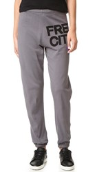 Freecity Feather Weight Sweatpants Grey Art Lavender