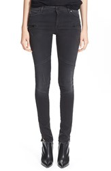 Superfine 'Rebel' Skinny Jeans Nero Slavato