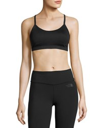The North Face Motivation Strappy Mid Impact Sports Bra Black