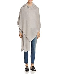 Bloomingdale's C By Cashmere Wrap 100 Exclusive Marled Gray