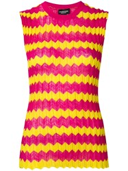 Calvin Klein 205W39nyc Zig Zag Knitted Top Pink
