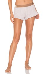 For Love And Lemons Sleeper Shorts Beige