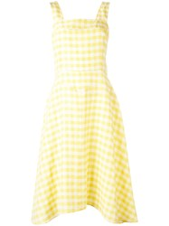 Paul Smith Ps By Classic Gingham Dress Women Linen Flax Acetate Cupro Viscose 38 Yellow Orange