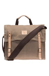 Men's Will Leather Goods Waxed Canvas Messenger Bag Beige Khaki
