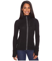 Icebreaker Quantum Long Sleeve Zip Hood Black Women's Long Sleeve Pullover