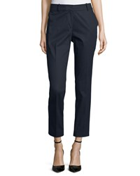 Lafayette 148 New York Skinny Ankle Pants Navy Women's