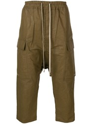 Rick Owens Drop Crotch Cargo Trousers Brown