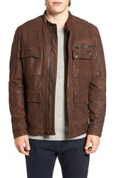 Lucky Brand Men's Manx Leather Jacket