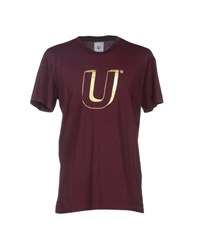 U Clothing Topwear T Shirts Men Deep Purple