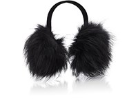 Barneys New York Women's Fur Earmuffs Black