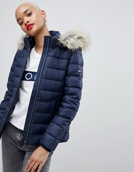 Tommy Jeans Down Padded Jacket Black Iris Navy