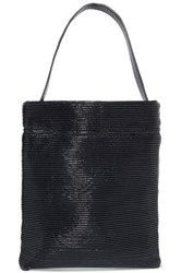 Tl 180 Fazzoletto Ribbed Patent Leather Shoulder Bag Navy