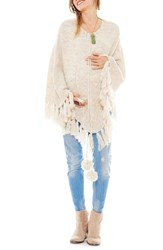 Women's Imanimo Cable Knit Maternity Poncho