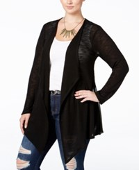 American Rag Trendy Plus Size Lace Back Cardigan Only At Macy's Classic Black