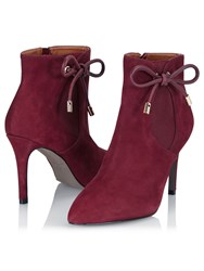 Jacques Vert Bow Trim Ankle Boot Red