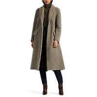 The Row Muto Lamb Shearling Belted Coat Gray
