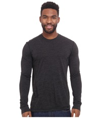 Prana Stockton Long Sleeve Crew Black Men's Long Sleeve Pullover