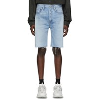 Balenciaga Blue Denim Shorts