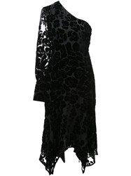 Josie Natori Burnout Velvet Dress Black