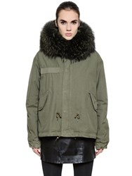 Mrandmrs Italy Cotton Canvas Jacket With Murmansky Fur