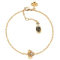 Cachet Bee Swarovski Crystal Chain Bracelet Rose Gold