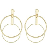 Maje Noemie Gold Toned Brass Earrings Light Gold