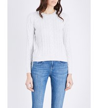 The White Company Sequin Embellished Wool Jumper Cloud Marl