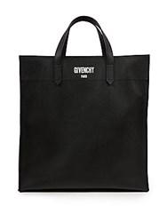 Givenchy Solid Leather Tote Black