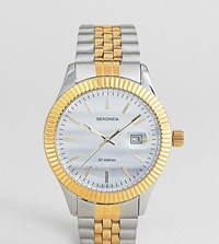Sekonda Bracelet Watch In Silver Gold Exclusive To Asos Silver Gold