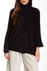 Planet Button Front Mini Cardigan Black