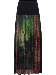 I'm Isola Marras Printed Front Pleated Long Skirt Black