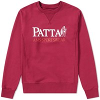 Patta Inji Crew Sweat Burgundy