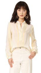 Zeus Dione Hera Collared Blouse Ivory Gold