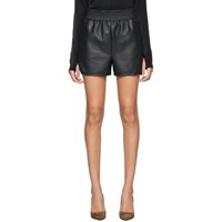 Wolford Black Faux Leather Stella Shorts