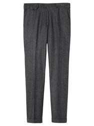 Jigsaw Prince Of Wales Slim Fit Trousers Grey