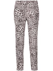 Marc Cain Leopard Print Trousers Polyester Black