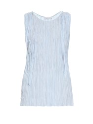Altuzarra Budo Sleeveless Crepe Top Light Blue