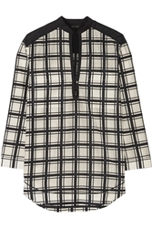 Proenza Schouler Checked Cotton And Silk Blend Voile Tunic