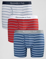 Abercrombie And Fitch 3 Pack Trunks In Stripe Multi