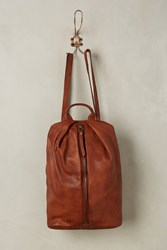 Anthropologie Centerfold Backpack Brown