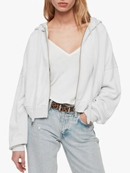 Allsaints Quince Cropped Hoodie Ivory White