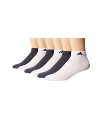 Adidas Superlite Low Cut Socks 6 Pack White Black Onix Black Men's Low Cut Socks Shoes Multi