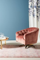Anthropologie Anselle Swivel Chair Pink