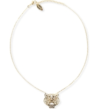 Kenzo Tiger Pendant Necklace Gold