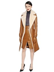 Gareth Pugh Belted Shearling Trench Coat