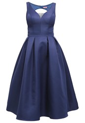 Chi Chi London Binky Cocktail Dress Party Dress Navy Dark Blue