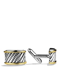 David Yurman Cable Cigar Band Cufflinks With Gold Silver Yellow Gold