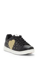 Ed Ellen Degeneres Chamour Sneaker Black Gold Leather