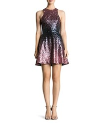 Dress The Population Andi Ombre Sequin Navy Rose